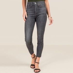 Levi's Wedgie High Rise Skinny Jean In Ravens Wing